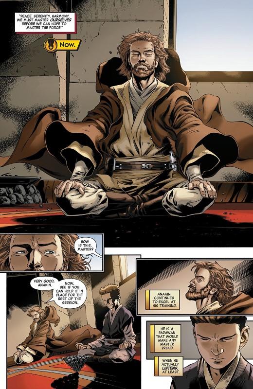 Star Wars Age of Republic: Obi-Wan Kenobi #1 art by Cory Smith, Wilton Santos, Walden Wong, Java Tartaglia, and letterer VC's Travis Lanham