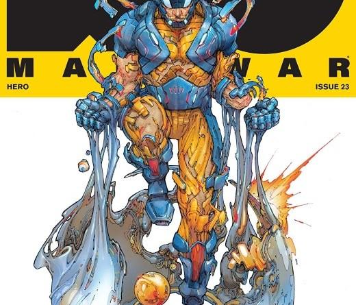 X-O Manowar #23 cover by Kenneth Rocafort