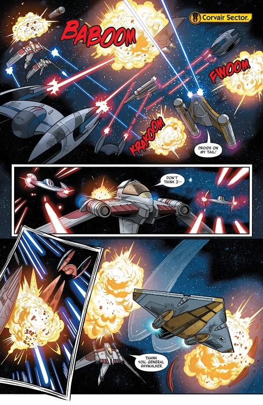 Star Wars Age of Republic: Anakin Skywalker #1 art by Cory Smith, Wilton Santos, Walden Wong, Java Tartaglia, and letterer VC's Travis Lanham