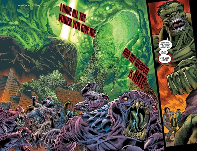 Immortal Hulk #13 art by Joe Bennett, Ruy Jose, Belardino Brabo, Rafael Fonteriz, Paul Mounts, and letterer VC's Cory Petit