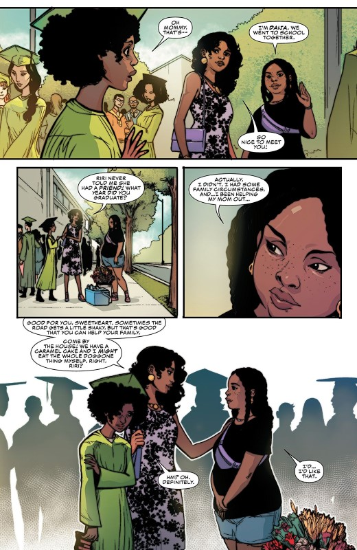 Ironheart #3 art by Luciano Vecchio, Geoffo, Matt Milla, and letterer VC's Clayton Cowles