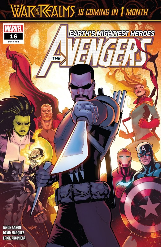 Avengers #16 cover by David Marquez and Matthew Wilson