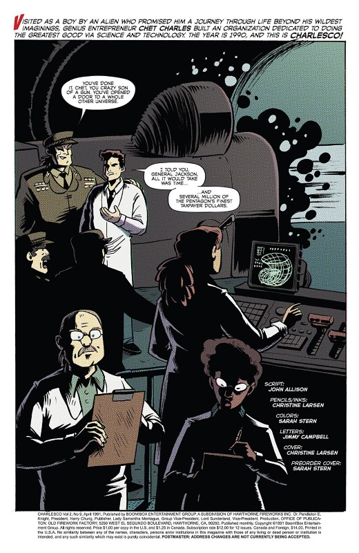 By Night #9 art by Christine Larsen, Sarah Stern, and letterer Jim Campbell