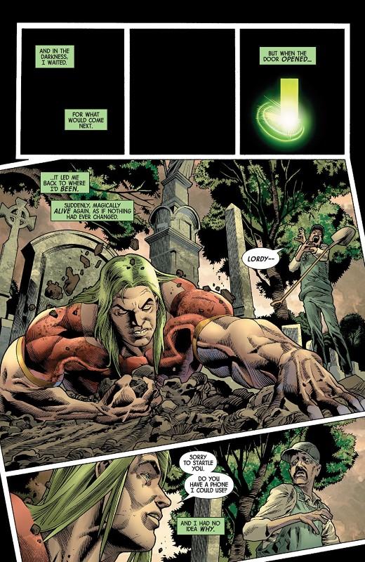 The Immortal Hulk #15 art by Joe Bennett, Ruy Jose, Paul Mounts, and letterer VC's Cory Petit