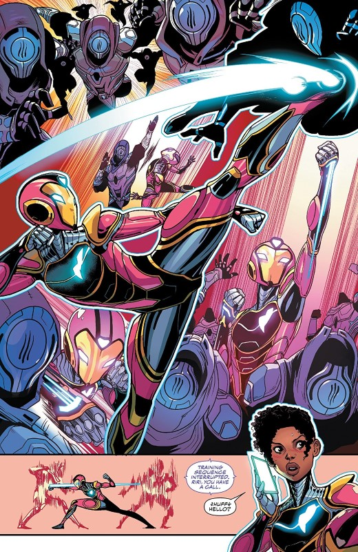 Ironheart #4 art by Luciano Vecchio, Geoffo, Matt Milla, and letterer VC's Clayton Cowles