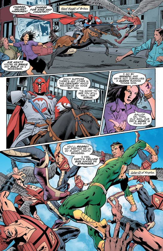 Hawkman #11 art by Bryan Hitch, Andrew Currie, Jeremiah Skipper, and letters by Richard Starkings and Comicraft