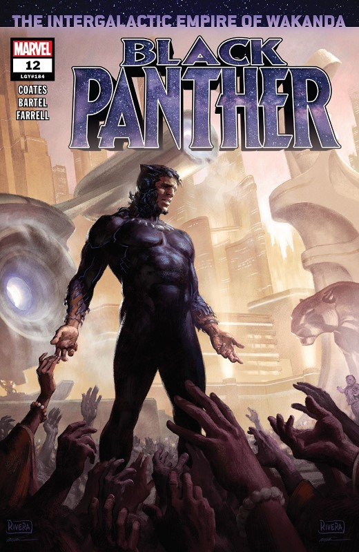 Black Panther #12 cover by Paolo Rivera and Daniel Acuña