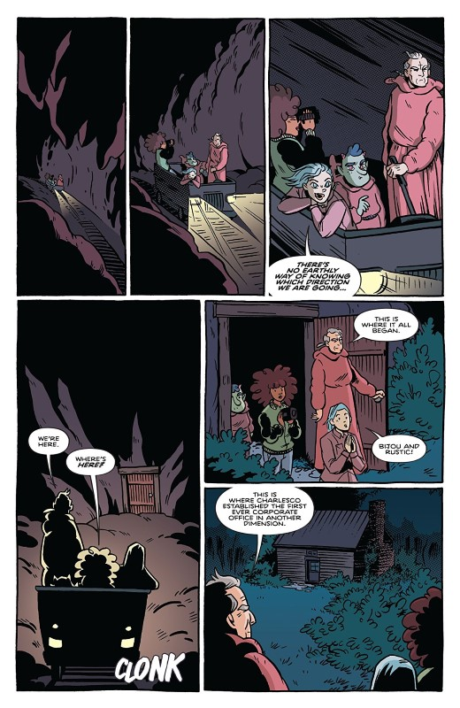 By Night #11 art by Christine Larsen, Sarah Stern, and letterer Jim Campbell