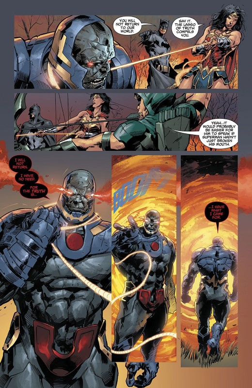 DCeased #1 art by Trevor Hairsine, Stefano Gaudiano, Rain Beredo, and letterer Saida Temofonte