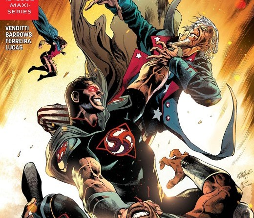 Freedom Fighters #6 cover by Eddy Barrows, Eber Ferreira, and Adriano Lucas