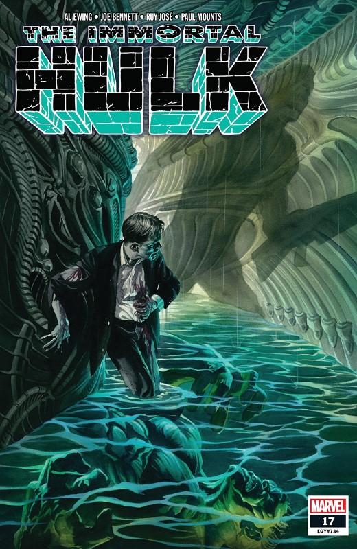Immortal Hulk #17 cover by Alex Ross
