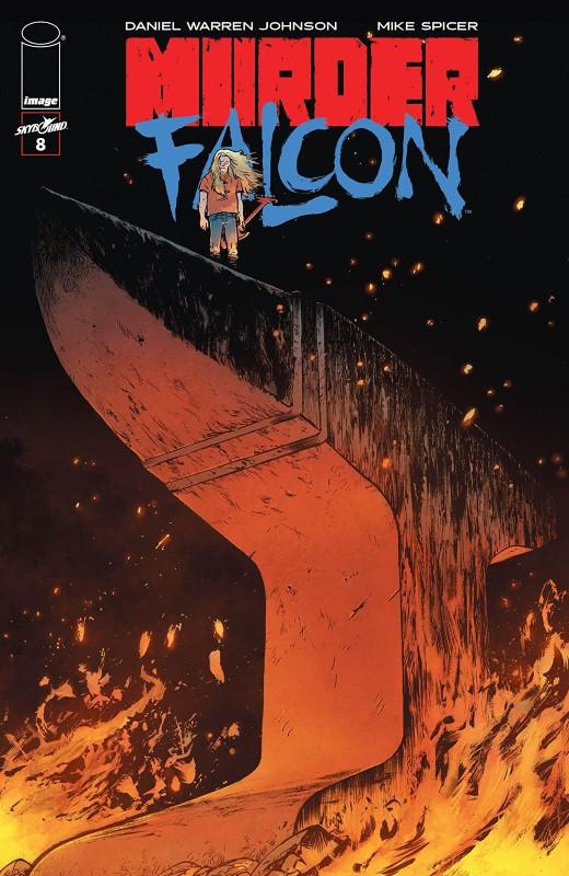 Murder Falcon #8 cover by Daniel Warren Johnson
