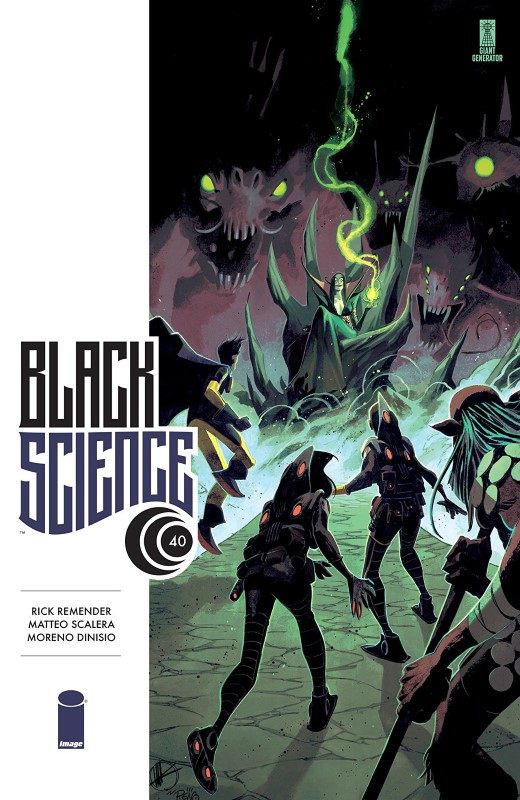 Black Science #40 cover by Matteo Scalera and Moreno Dinisio
