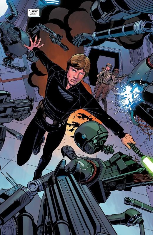 Star Wars Age of Rebellion: Luke Skywalker #1 art by Chris Sprouse, Scott Koblish, Stefano Landini, Karl Story, Marc Deering, Tamra Bonvillain, and letterer VC's Travis Lanham