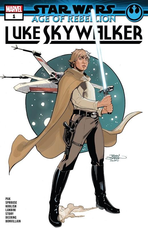 Star Wars Age of Rebellion: Luke Skywalker #1 cover by Terry and Rachel Dodson