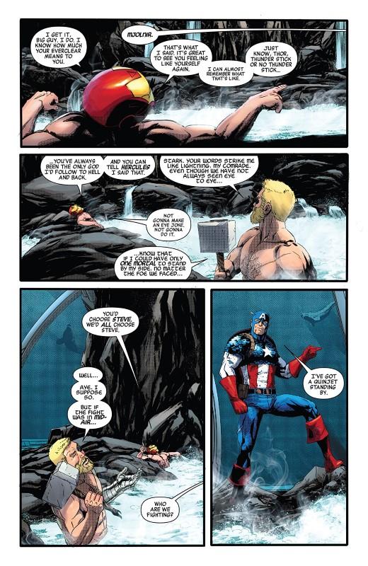 Avengers #21 art by Jason Masters, Jason Keith, and letterer VC's Joe Caramagna