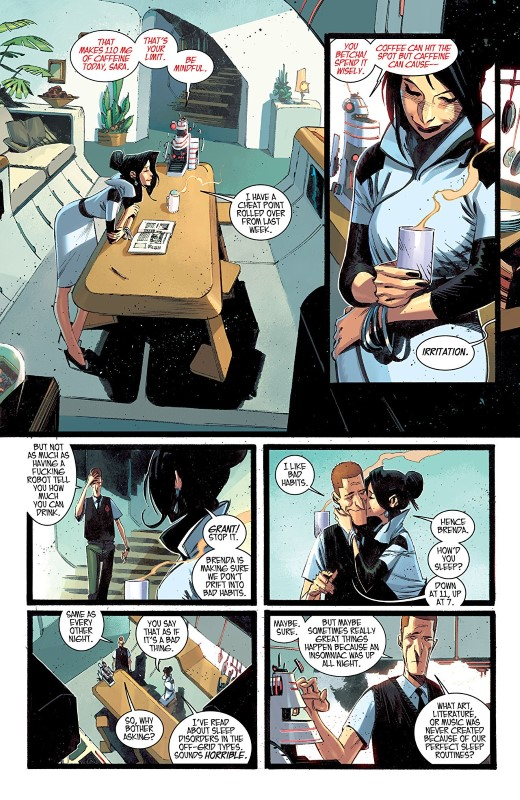 Black Science #41 art by Matteo Scalera, Moreno Dinisio, and letterer Rus Wooton