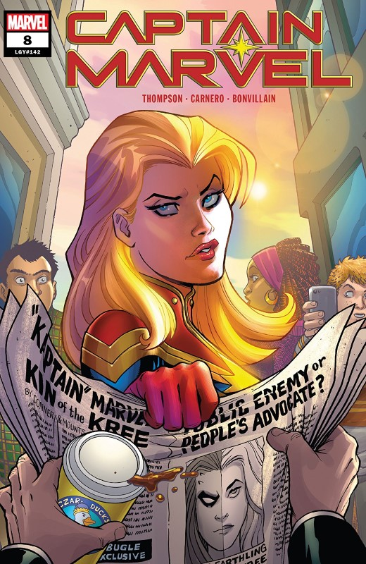 Captain Marvel #8 cover by Amanda Conner and Paul Mounts