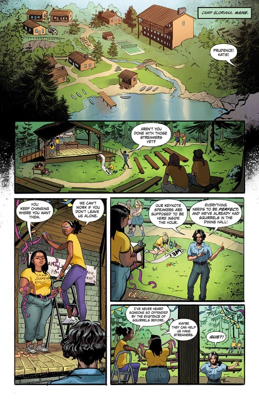 Fearless #1 art by Claire Roe, Rachelle Rosenberg, and letterer Janice Chiang