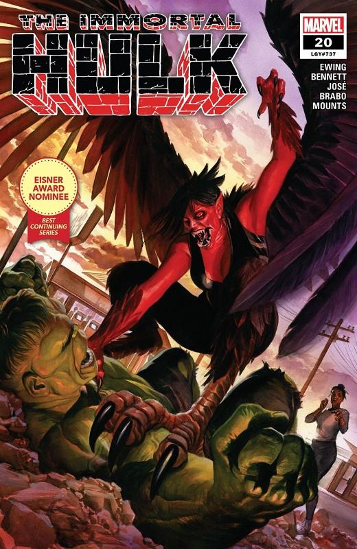 Immortal Hulk #20 cover by Alex Ross