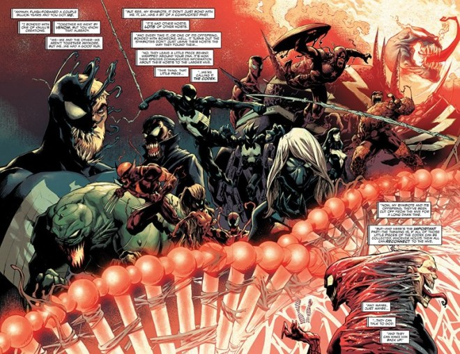 Absolute Carnage #1 art by Ryan Stegman, JP Mayer, Frank Martin, and letterer VC's Clayton Cowles