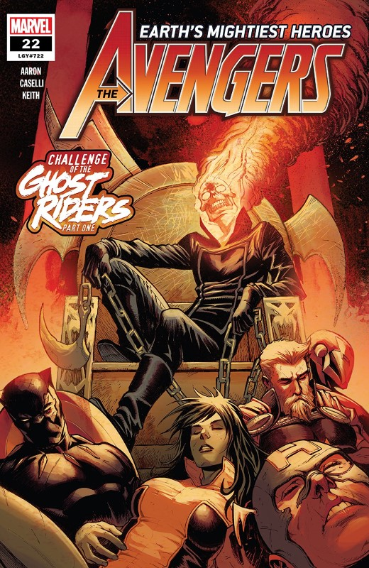Avengers #22 cover by Stefano Caselli and Frank Martin