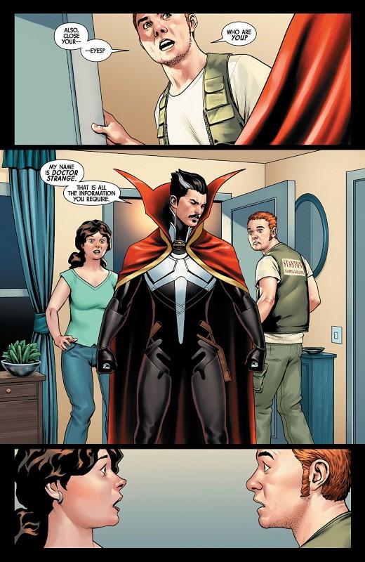 Doctor Strange #18 art by Jesus Saiz and letterer VC's Cory Petit