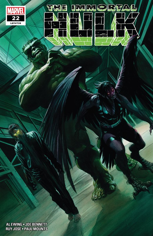 Immortal Hulk #22 cover by Alex Ross
