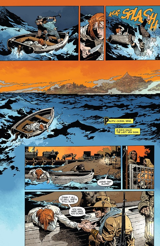 The Island of Dr. Moreau #1 art by Gabriel Rodríguez, Nelson Dániel, and letterer Robbie Robbins