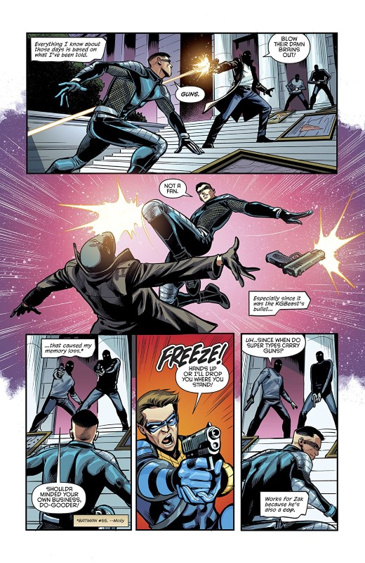 Nightwing #63 art by Ronan Cliquet and Nick Filardi with letters from Andworld Design