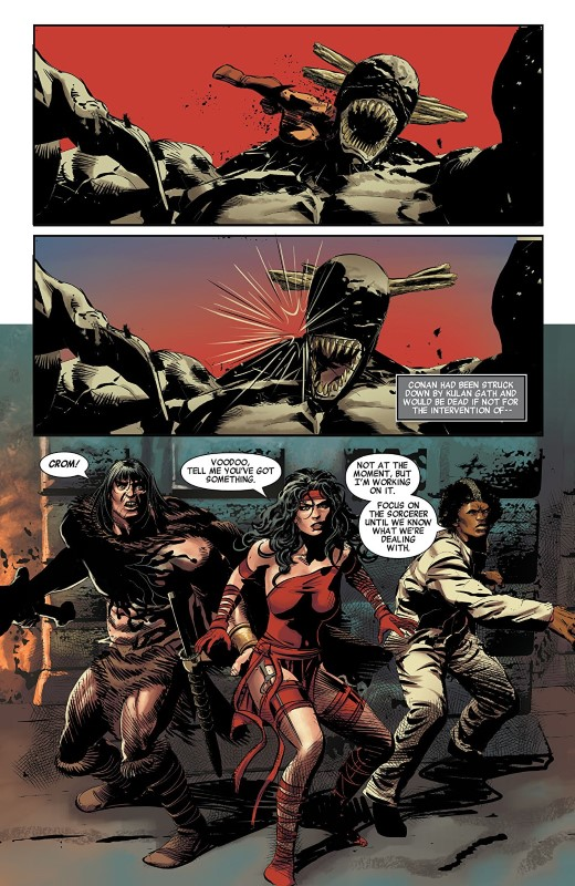 Savage Avengers #4 art by Mike Deodato Jr., Frank Martin, and letterer VC's Travis Lanham