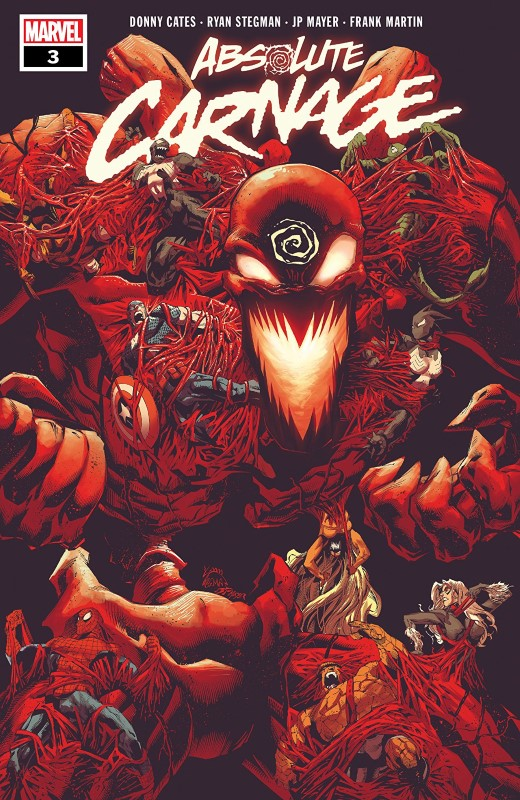 Absolute Carnage #3 cover by Ryan Stegman, JP Mayer, and Frank Martin
