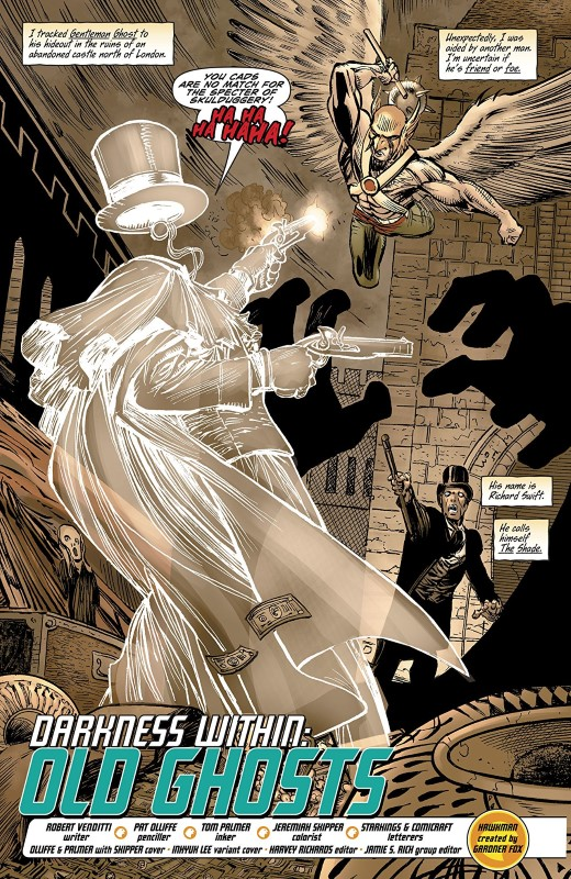 Hawkman #16 art by Pat Olliffe, Tom Palmer, and Jeremiah Skipper with letters from Richard Starkings and Comicraft