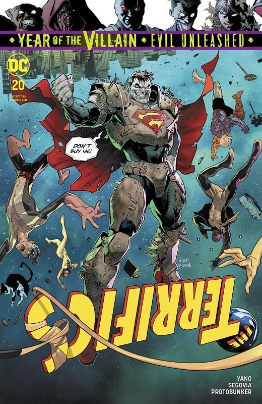 Terrifics #20 cover by Dan Mora