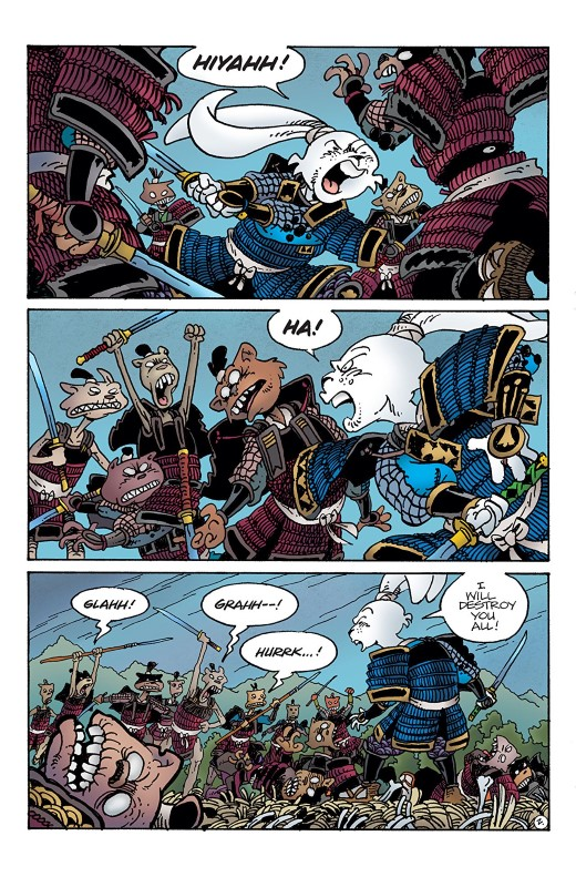 Usagi Yojimbo #4 art by Stan Sakai and Tom Luth with letters from Stan Sakai