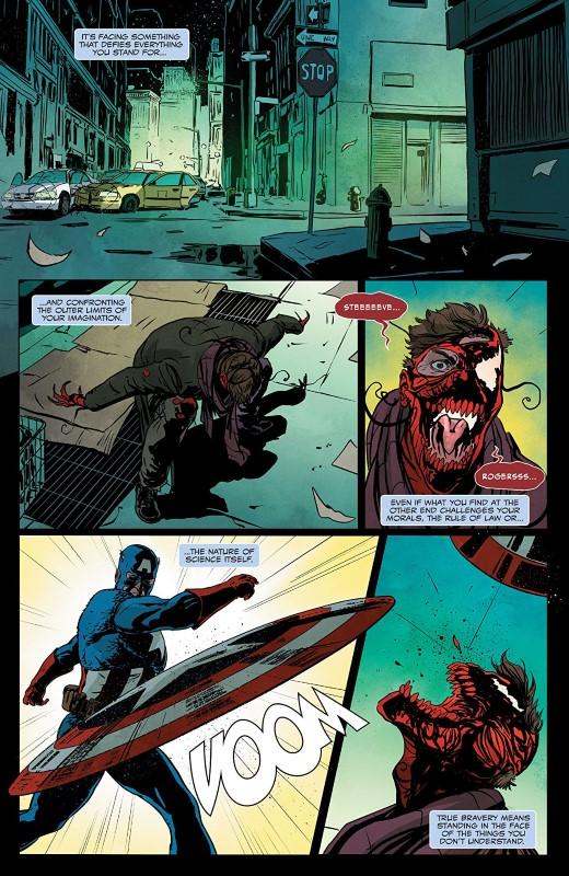Absolute Carnage: Avengers #1 art by Alberto Albuquerque, Guiu Vilanova, Rachelle Rosenberg, and letterer VC's Cory Petit