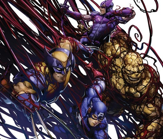 Absolute Carnage: Avengers #1 cover by Clayton Crain
