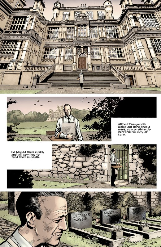 The Batman's Grave #1 art by Bryan Hitch, Kevin Nowlan, Alex Sinclair, and letterer Richard Starkings