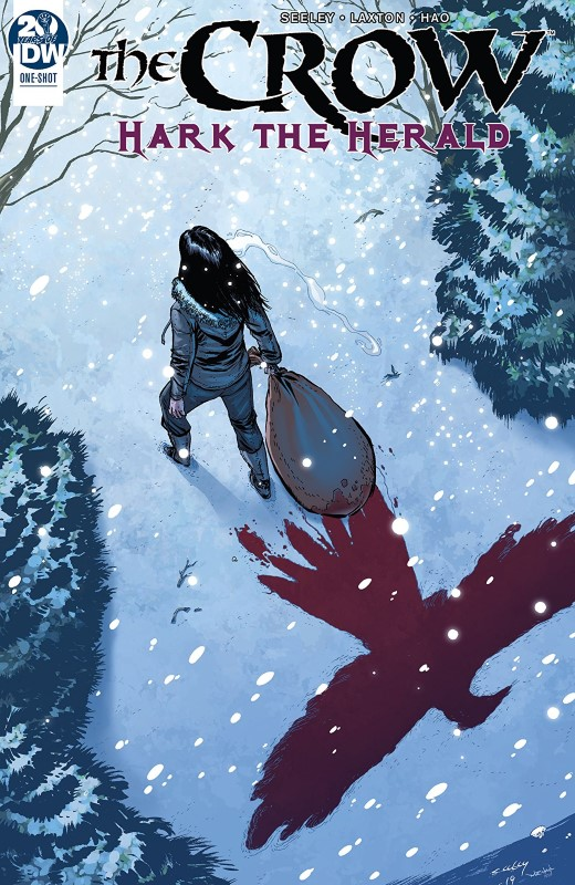 The Crow: Hark the Herald #1 cover by Tim Seeley and Katrina Mae Hao