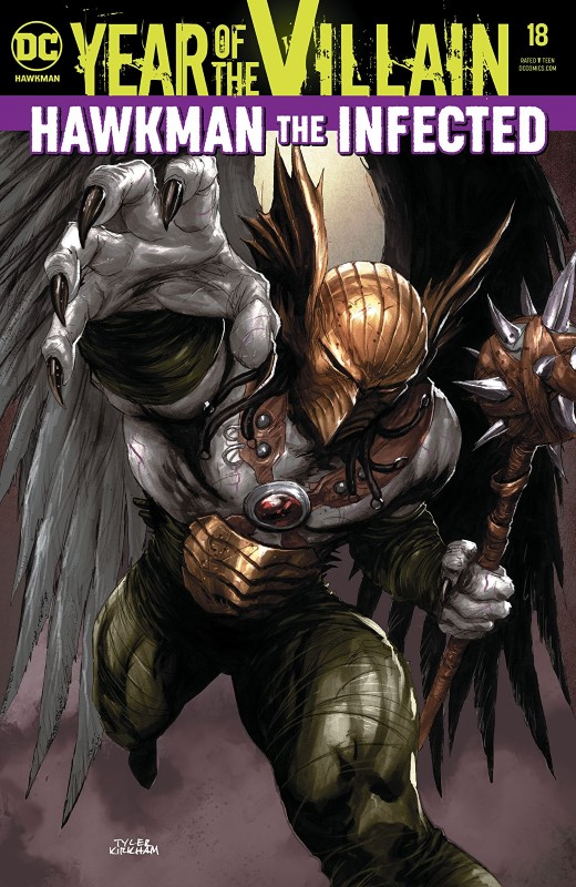 Hawkman #18 cover by Tyler Kirkham
