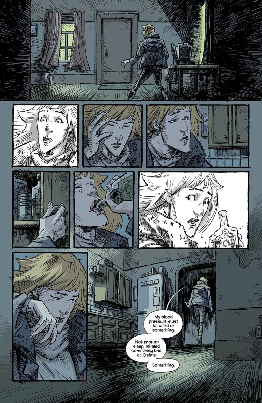 Trees: Three Fates #3 art by Jason Howard and Dee Cunniffe with letters from Fonografiks