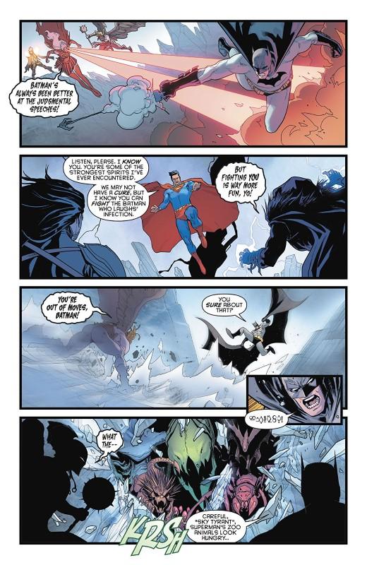 Batman/Superman #5 art by David Marquez, Alejandro Sanchez, and letterer John J. Hill