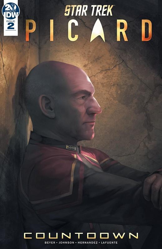 Star Trek Picard: Countdown #2 cover by Sara Pitre-Durocher