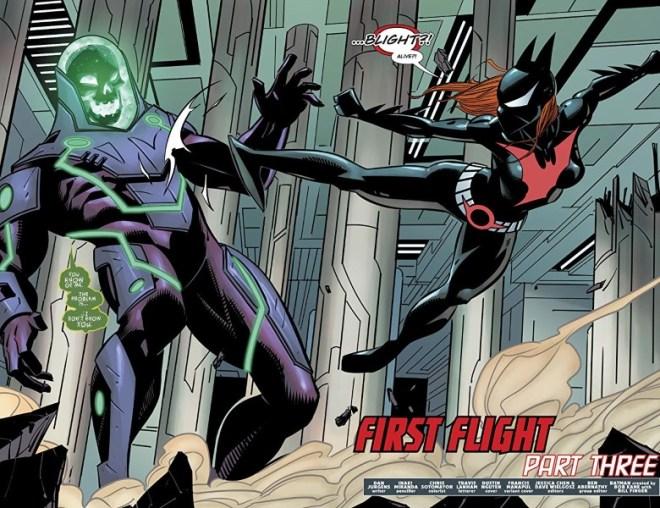 Batman Beyond #39 art by Inaki Miranda, Chris Sotomayor, and letterer Travis Lanham