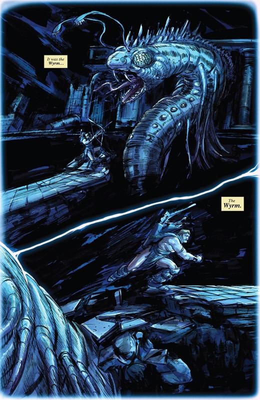 Conan: Serpent War #4 art by Vanesa R. Del Rey, Ig Guara, Jean-Francois Bealieu, Frank D'Armata, and letterer VC's Travis Lanham