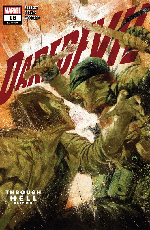 Daredevil #19 cover by Julian Totino Tedesco
