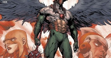 Hawkman #21 cover by Raymund Bermudez