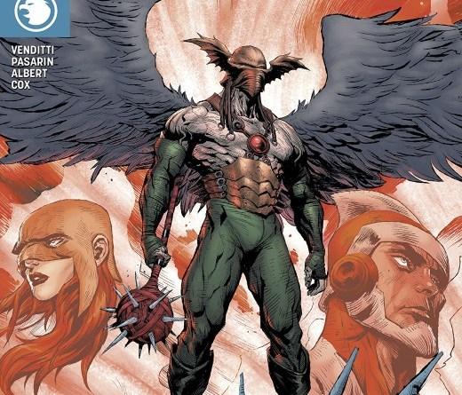 Hawkman #21 cover by Raymund Bermudez