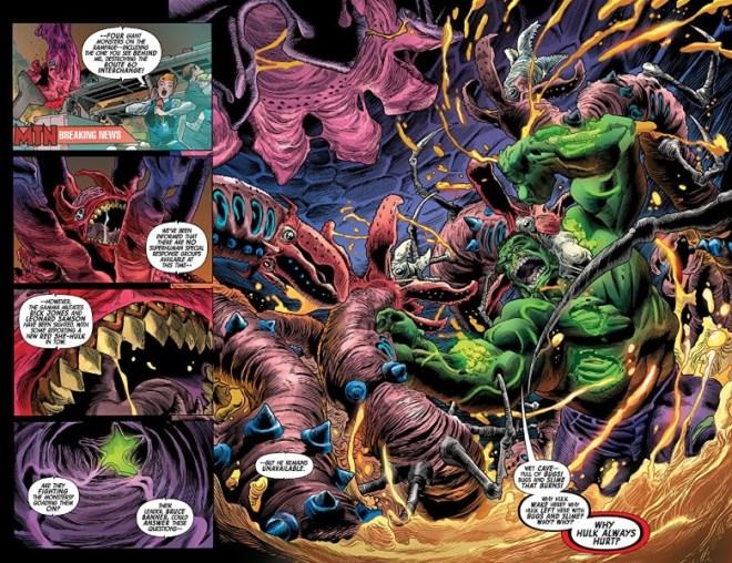 Immortal Hulk #30 art by Joe Bennett, Ruy José, Belardino Brabo, Cam Smith, Paul Mounts, and letterer VC's Cory Petit