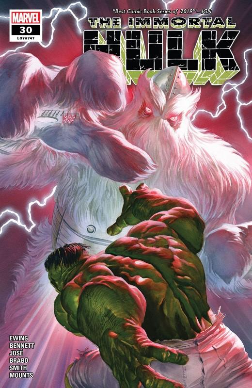 Immortal Hulk #30 cover by Alex Ross